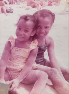 Caralyn and her sister as children