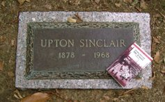The grave of Upton Sinclair