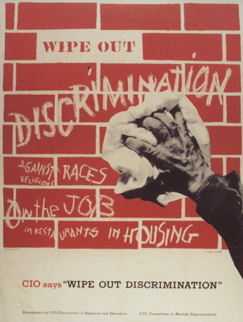 Wipe out discrimination poster