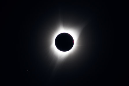Solar Eclipse from a hilltop east of Ola, Idaho
