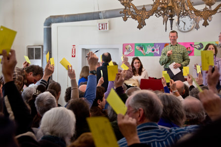 A Town Hall meeting in Calais, Vermont