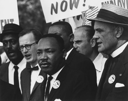 Martin Luther King Jr. marches on Washington