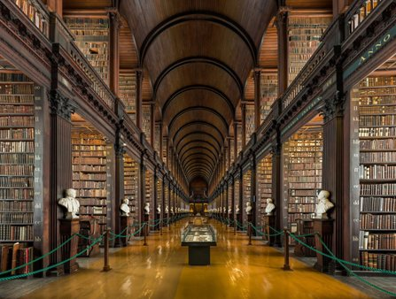 The interior of a beautiful library in Dublin