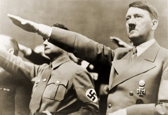 Hitler and other nazis salute