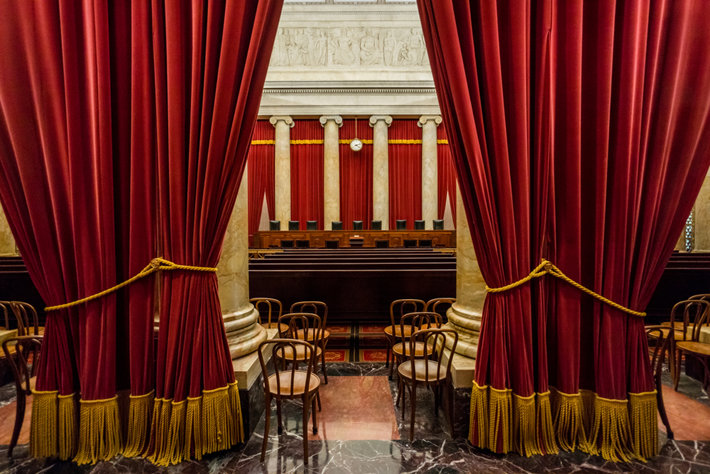 The interior of the U.S. Supreme Court