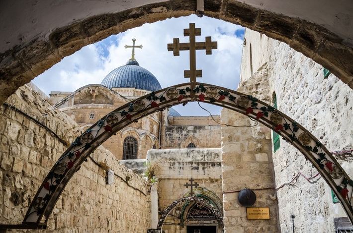 A shot of Via Dolorosa