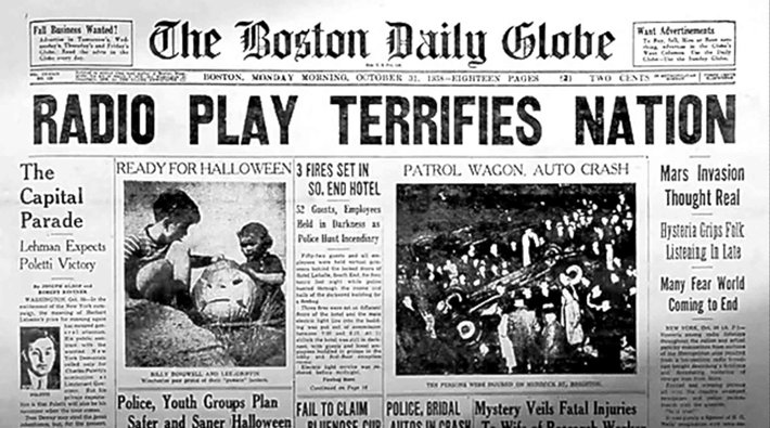 Boston Globe on War of the Worlds scare