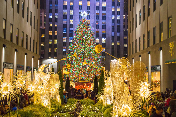 Rockefeller Center in NYC at Christmas