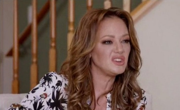 Leah Remini with a hateful look on her face