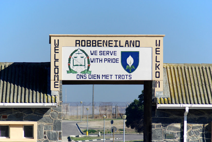 The entrance to Robben Island prison