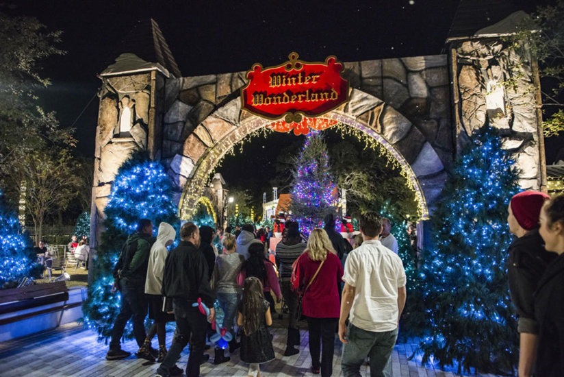 The entrance to Winter Wonderland