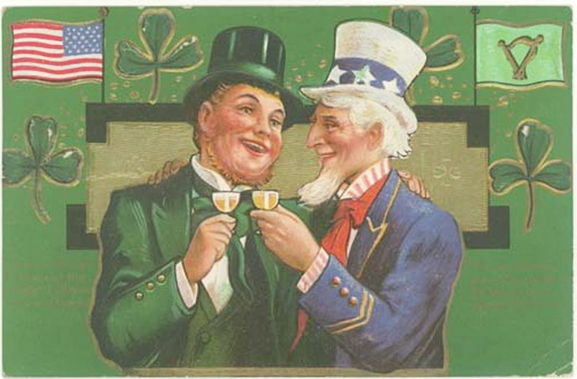 Uncle Sam and Saint Patrick