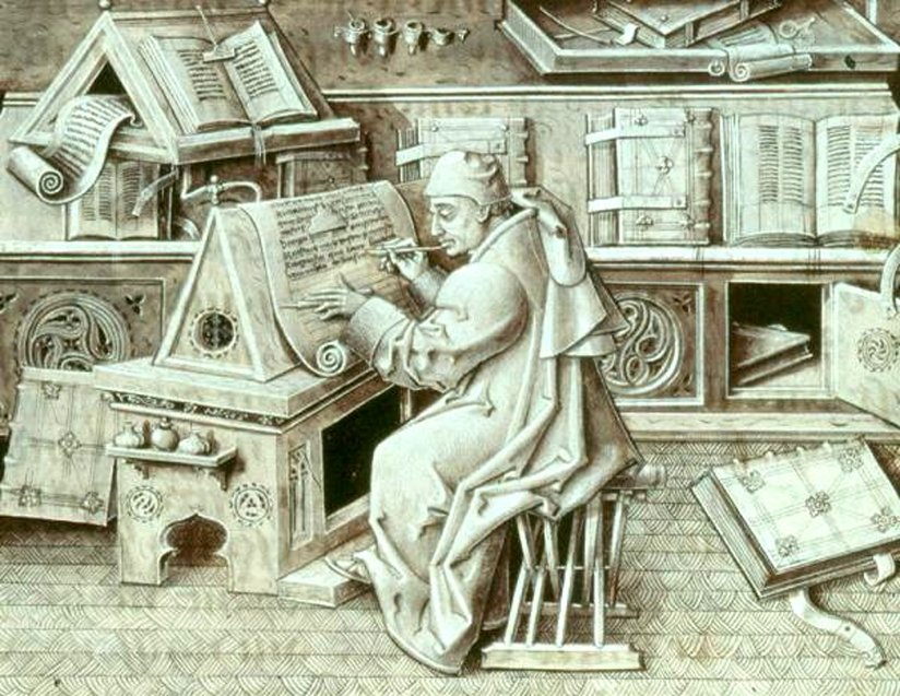 A portrait of a scribe