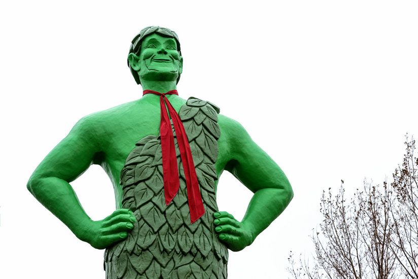 The Jolly Green Giant statue