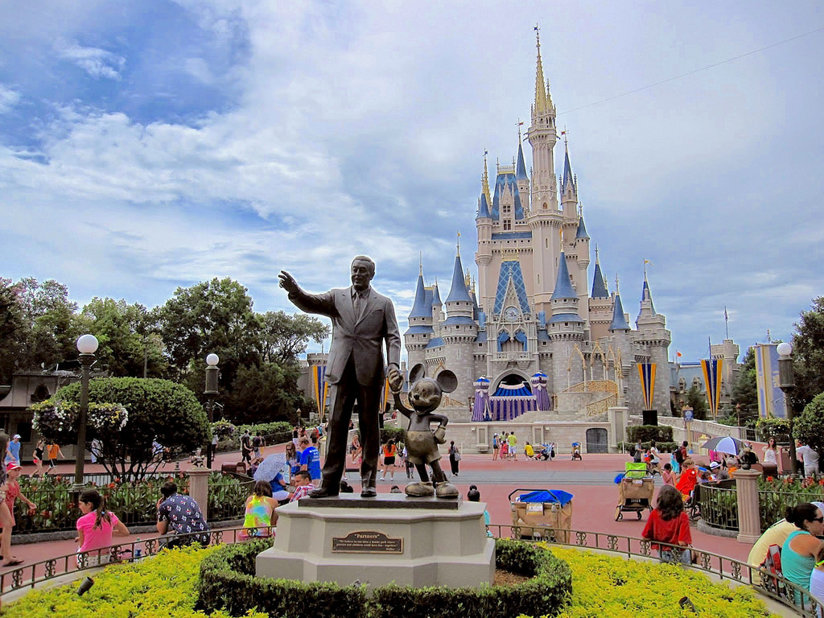 Statue of Disney and Mickey Mouse