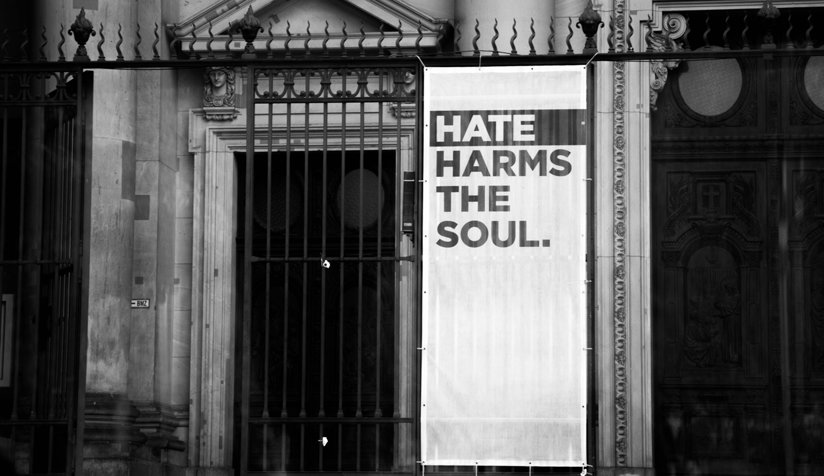 A hate harms the soul sign